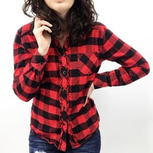 Tart : Red and Black Buffalo Plaid Flannel Small